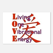 Living One Vibrational En Postcards (Package of 8)