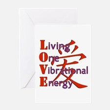 Living, One,Vibrational,Energy Greeting Card