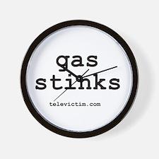 """""""gas stinks"""" Wall Clock"""