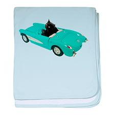 Cat Driving Car baby blanket