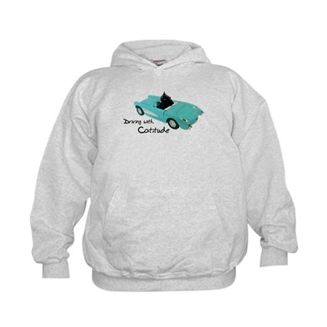 Driving with Catitude Kids Hoodie