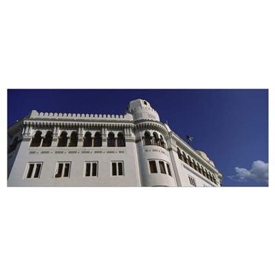 Low angle view of a post office, Algiers, Algeria Poster