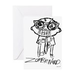 Zombie Nerd. Alternate Greeting Card