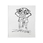 Zombie Nerd. Alternate Throw Blanket