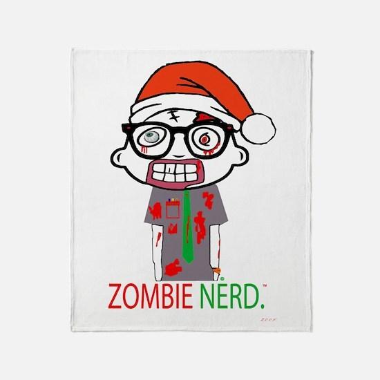 Zombie Nerd. Holiday Throw Blanket