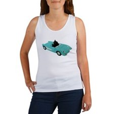 Cat Driving Car Women's Tank Top