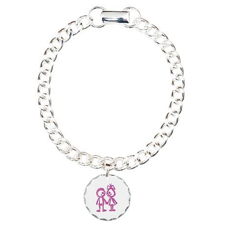Love Couple Charm Bracelet, One Charm