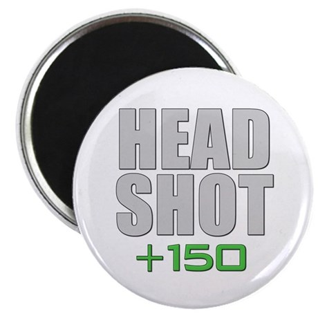 "Head Shot +150 2.25"" Magnet (10 pack)"