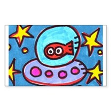 Tickles UFO Rectangle Decal