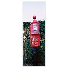 Close-up of a fire alarm, Nantucket, Massachusetts Poster