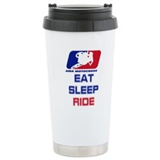eat sleep ride Travel Mug