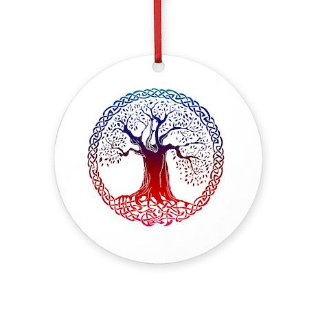 Sunset Celtic Tree Ornament (Round)