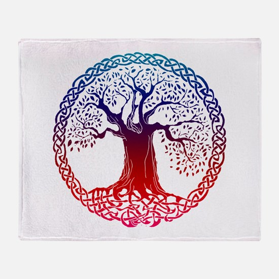 Sunset Celtic Tree Throw Blanket