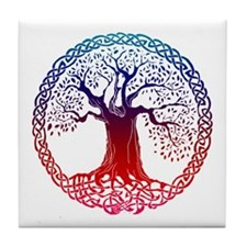 Sunset Celtic Tree Tile Coaster