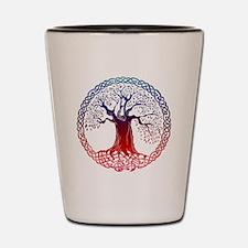 Sunset Celtic Tree Shot Glass