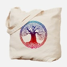 Sunset Celtic Tree Tote Bag