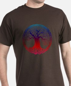 Sunset Celtic Tree T-Shirt