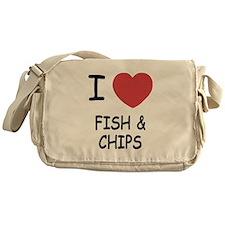 I heart fish and chips Messenger Bag