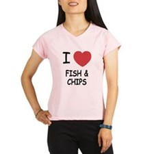 I heart fish and chips Performance Dry T-Shirt