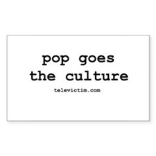 """""""pop goes the culture"""" Rectangle Decal"""