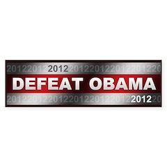 Defeat Obama Bumper Sticker
