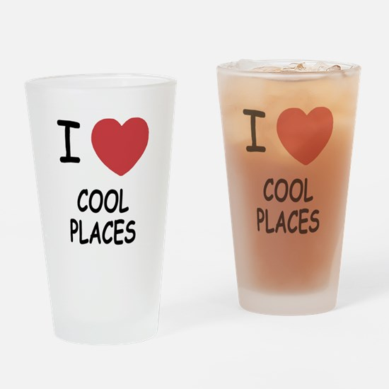 I heart cool places Drinking Glass