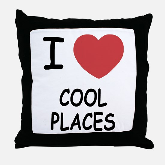 I heart cool places Throw Pillow