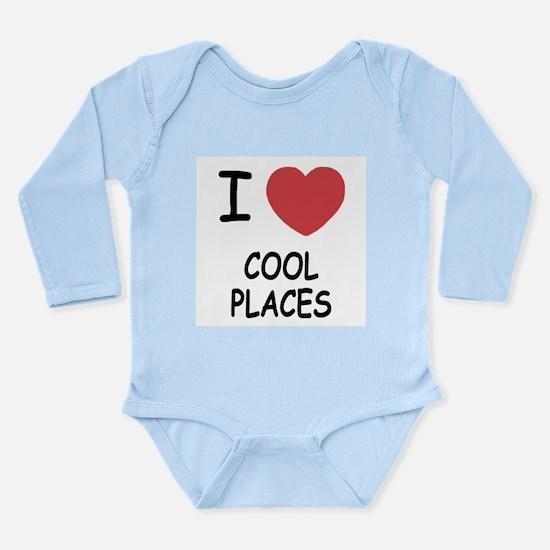 I heart cool places Long Sleeve Infant Bodysuit