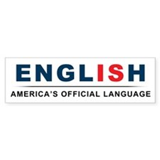 America's Official Language Bumper Sticker