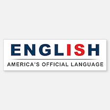 America's Official Language Sticker (Bumper)