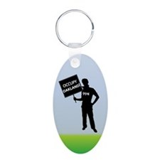 Occupy Oakland Sign Keychains