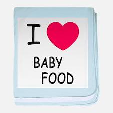I heart baby food baby blanket