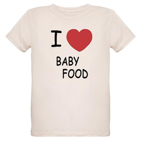 I heart baby food Organic Kids T-Shirt