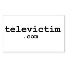 """televictim.com"" Rectangle Decal"
