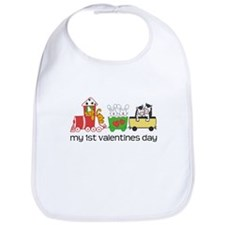 1st Valentines Day Train Bib