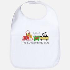 1st Valentines Day Train Bib