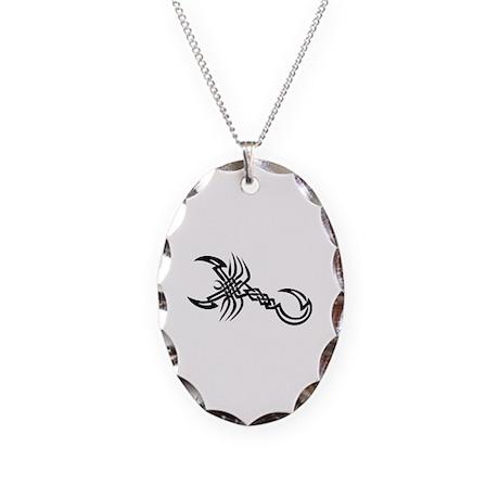Tatoo Necklace Oval Charm