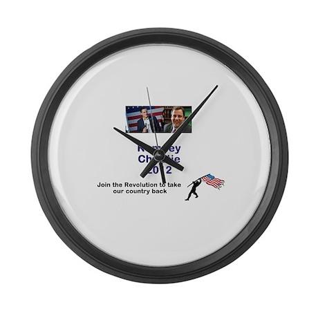 Romney Christie 2012 Large Wall Clock