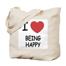 I heart being happy Tote Bag