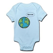 Save me says Earth Infant Bodysuit