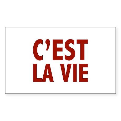 C'est La Vie Sticker (Rectangle)