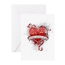 Happy Valentines Day Urban Ch Greeting Cards (Pk o