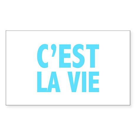 C'est La Vie Sticker (Rectangle 10 pk)