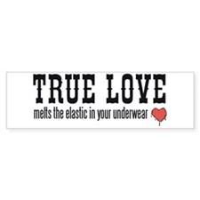 True Love Melts Your Underwea Bumper Sticker