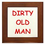 Old farts jokes Framed Tile