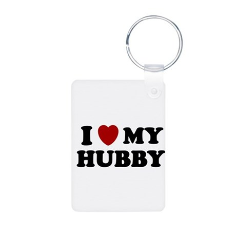 I LOVE MY HUBBY SHIRT HUSBAND Aluminum Photo Keych