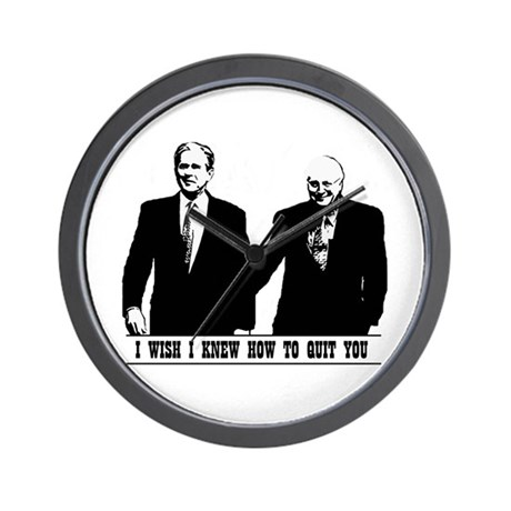 Brokeback Bush Cheney Wall Clock