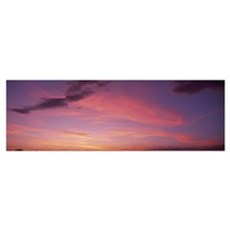 Sunset w/ clouds Phoenix AZ Canvas Art