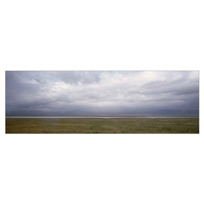 Landscape w/Rain Clouds Soda Lake CA Poster
