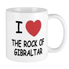 I heart rock of gibraltar Mug
